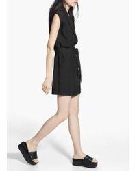 Mango Black Double-Breasted Dress