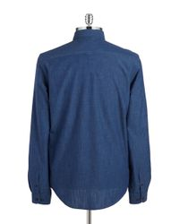 Ben Sherman | Blue Textured Cotton Sportshirt for Men | Lyst