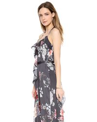 L'Agence Multicolor Ruffle Front Dress