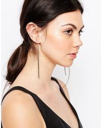 ASOS | Metallic Sleek Drop Earrings | Lyst