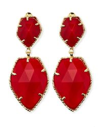 Kendra Scott Selma Faceted Clipon Earrings Red