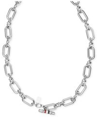 Tommy Hilfiger | Gray Stainless Steel Infinity Link Necklace | Lyst