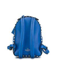 Valentino Blue Mini 'rockstud' Backpack