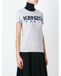 KENZO Gray Paris T-shirt
