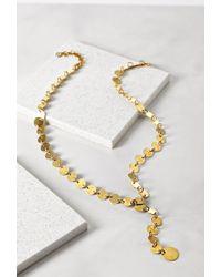 Forever 21 | Metallic Soko Sequin Drop Necklace | Lyst