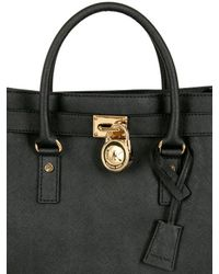 MICHAEL Michael Kors Black Large Hamilton Saffiano Leather Bag