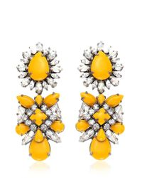 Shourouk - Yellow Blondi Safran Earrings - Lyst