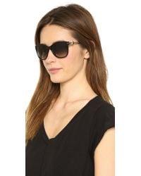 M Missoni Black Rounded Bottom Sunglasses Brown