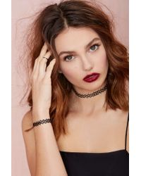 Nasty Gal - Black Get Tatted Choker & Bracelet Set - Lyst