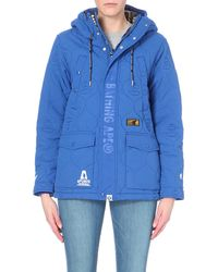 Aape Blue I.T Quilted Shell Parka - For Women