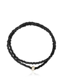 Luis Morais | Metallic Double Wrap Beaded Bracelet | Lyst