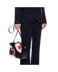 Alexander McQueen Black Kansai Circles Legend Box Bag
