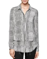 Calvin Klein Jeans | Gray Snake Print Double Paneled Top | Lyst