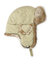 Crown Cap | Natural Real Rabbit Fur Lined Bomber Hat for Men | Lyst