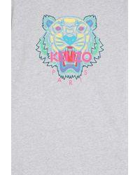 KENZO - Gray Iconic Tiger T-shirt - Lyst