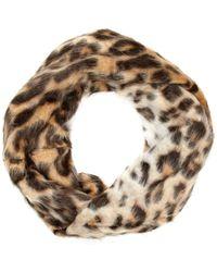 River Island Brown Leopard Print Faux Fur Snood