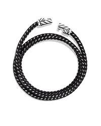 David Yurman - Chevron Triple-wrap Bracelet In Black for Men - Lyst