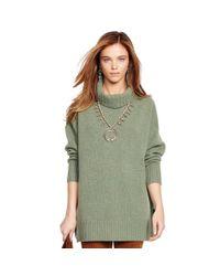 Polo Ralph Lauren | Green Merino Wool Turtleneck Sweater | Lyst