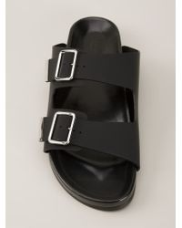 Givenchy - Black Swiss Flat Sandals for Men - Lyst