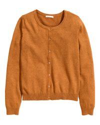 H&M Orange Cotton Cardigan