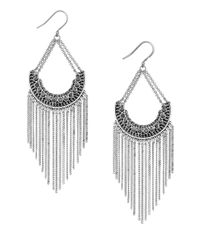 Lucky Brand | Metallic Modern Shine Fringed Chain Earrings | Lyst