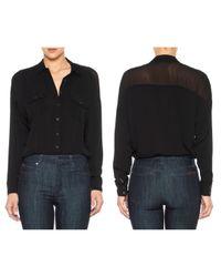 Joe's Jeans Black Dolman Sleeve Shirt