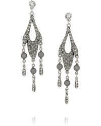 Philippe Audibert Metallic Regine Pewterplated Crystal Earrings
