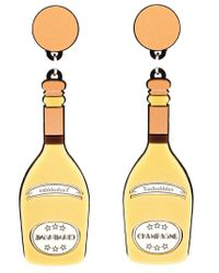 Yazbukey | Yellow Champagne Bottle Earrings | Lyst