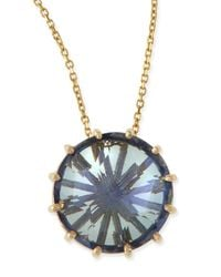 KALAN by Suzanne Kalan | 12mm Round Blue Topaz Pendant Necklace | Lyst