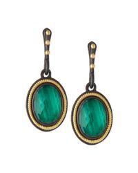 Armenta | Malachite Blue Topaz Rope-bezel Drop Earrings | Lyst