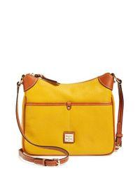 Dooney & Bourke Yellow 'kimberly' Leather Crossbody Bag