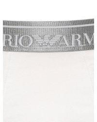 Emporio Armani White Stretch Cotton Jersey Boxer Briefs for men