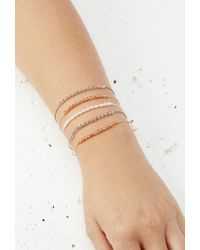 Forever 21 | Natural Mixed Bead Bracelet Set | Lyst