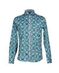 Just Cavalli Blue Shirt for men