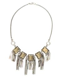 Gerard Yosca Metallic Mother-of-pearl And Glass Fringe Necklace