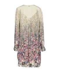 Twin Set - Gray Short Dress - Lyst