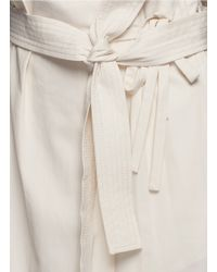 3.1 Phillip Lim Natural Belted Paperbag Waist Cotton Skirt
