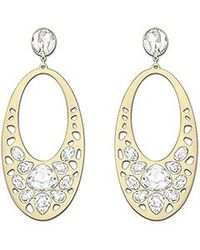 Swarovski Metallic Ariane Pierced Earrings