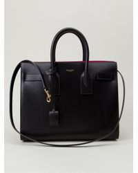 Saint Laurent - Black Sac De Jour Medium Calf-Leather Tote - Lyst