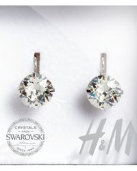 H&M | Metallic Crystal Earrings | Lyst