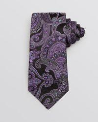 Ike Behar Purple Large Scale Paisley Classic Tie for men