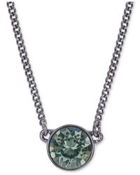 Givenchy | Gray Light Hematite-tone Pendant Necklace | Lyst