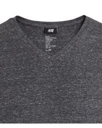 H&M Gray Stretch T-shirt for men