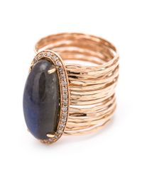 Jacquie Aiche - Blue Oval Stone Ring - Lyst