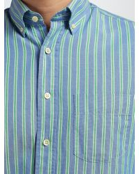 GANT | Blue Top Spin Oxford Stripe Shirt for Men | Lyst