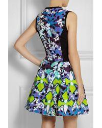 Peter Pilotto - Green Printed Stretchmatelassé Dress - Lyst