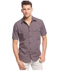 LRG - Gray Future 47 Printed Shirt for Men - Lyst
