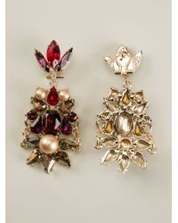 Anton Heunis | Brown Crystal Cluster Drop Earrings | Lyst
