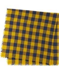 Uniqlo - Yellow Cotton Linen Stole for Men - Lyst