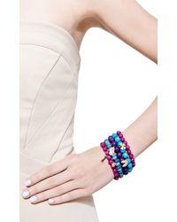 Sydney Evan - Purple Diamond and Ruby Hamsa Charm Beaded Bracelet - Lyst
